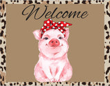 Leopard Pig with Headband