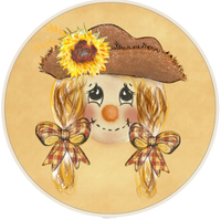 Girl Scarecrow sign
