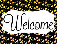 Candy Corn welcome sign