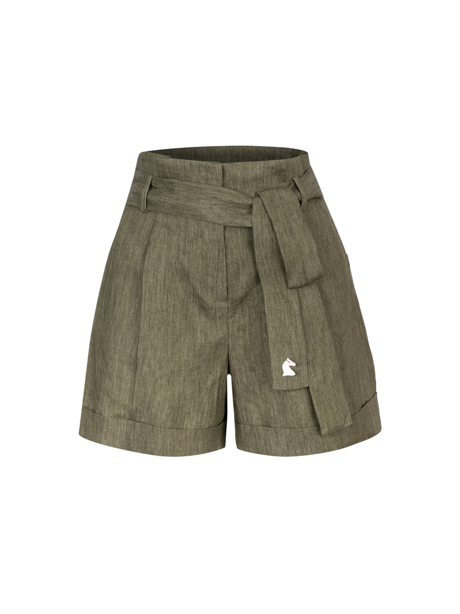 Afternoon at the Palace Linen Shorts