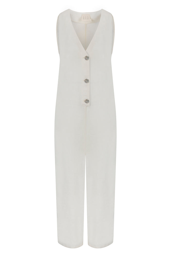 By the Lake Maggiore Linen Jumpsuit