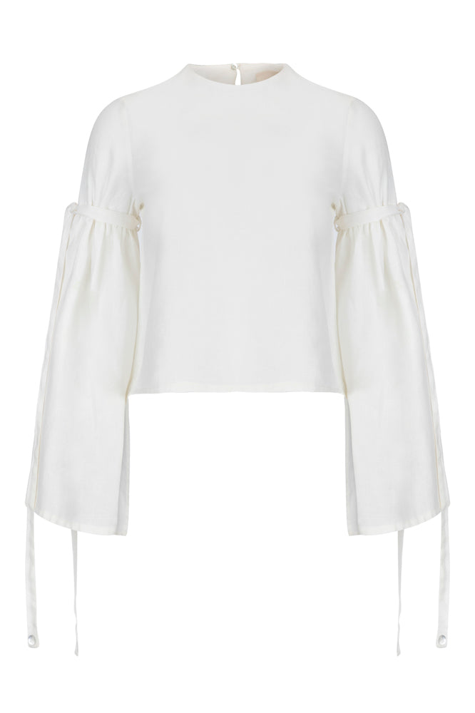 At the Imperial Linen Blouse
