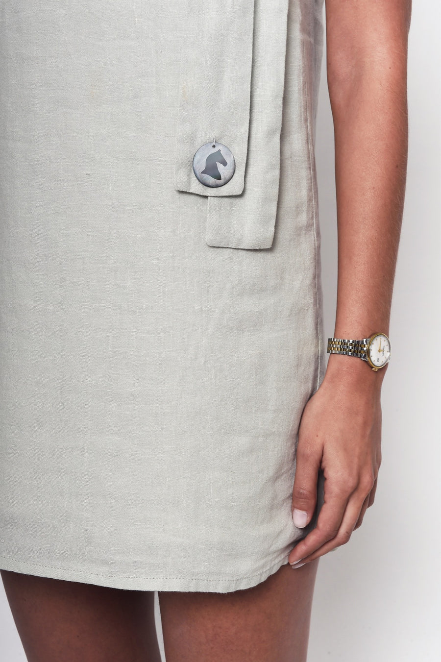 High on the Rocky Hills Linen Dress