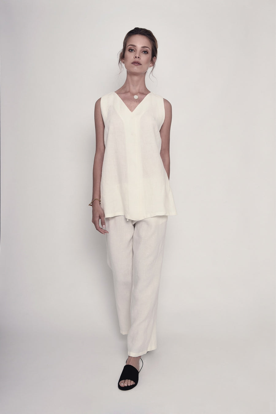 Nice Time of the Year Organic Linen Blouse