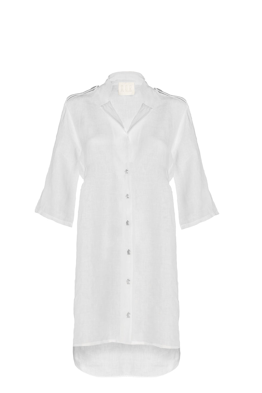 A Glass of Wine Linen Shirt Dress