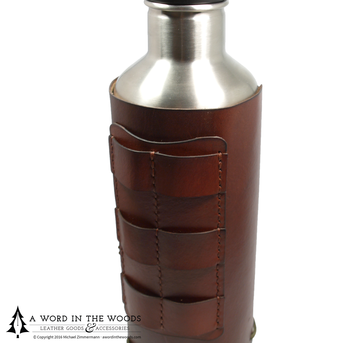 Leather Water Bottle Holster - 27oz (800ml)