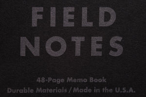 Field Notes Pitch Black CLASSIC 3-Pack