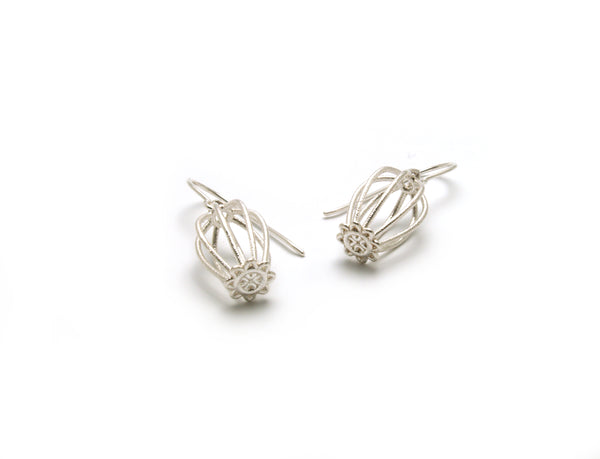 Doily Drop Earrings - Silver