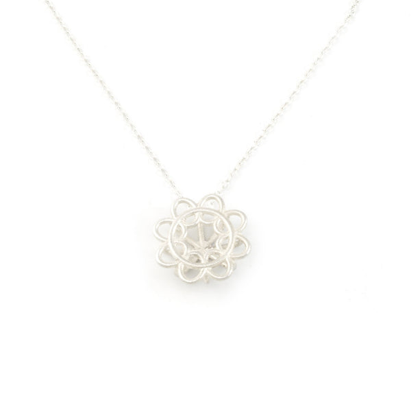Doily Pendant in Argentium Sterling Silver