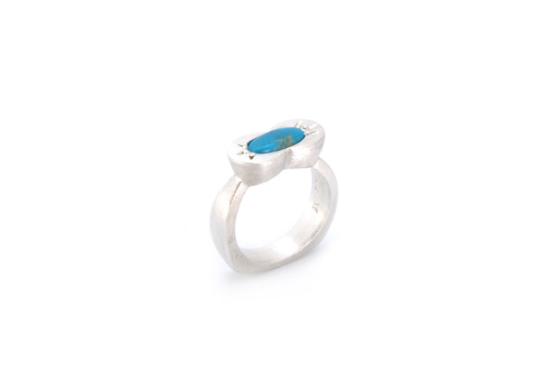 Double Oval Ring with Turquoise
