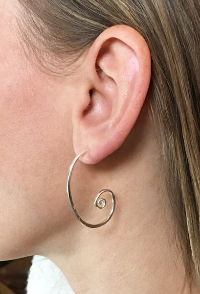 Forged Scroll Earrings