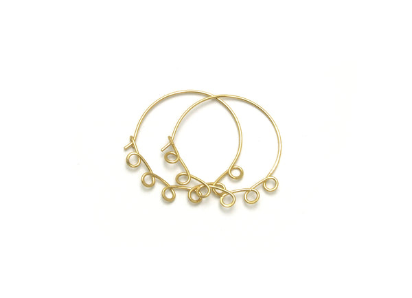 Large Loopy Gold Hoop