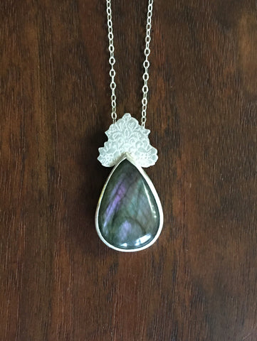 Labradorite Pattern Necklace