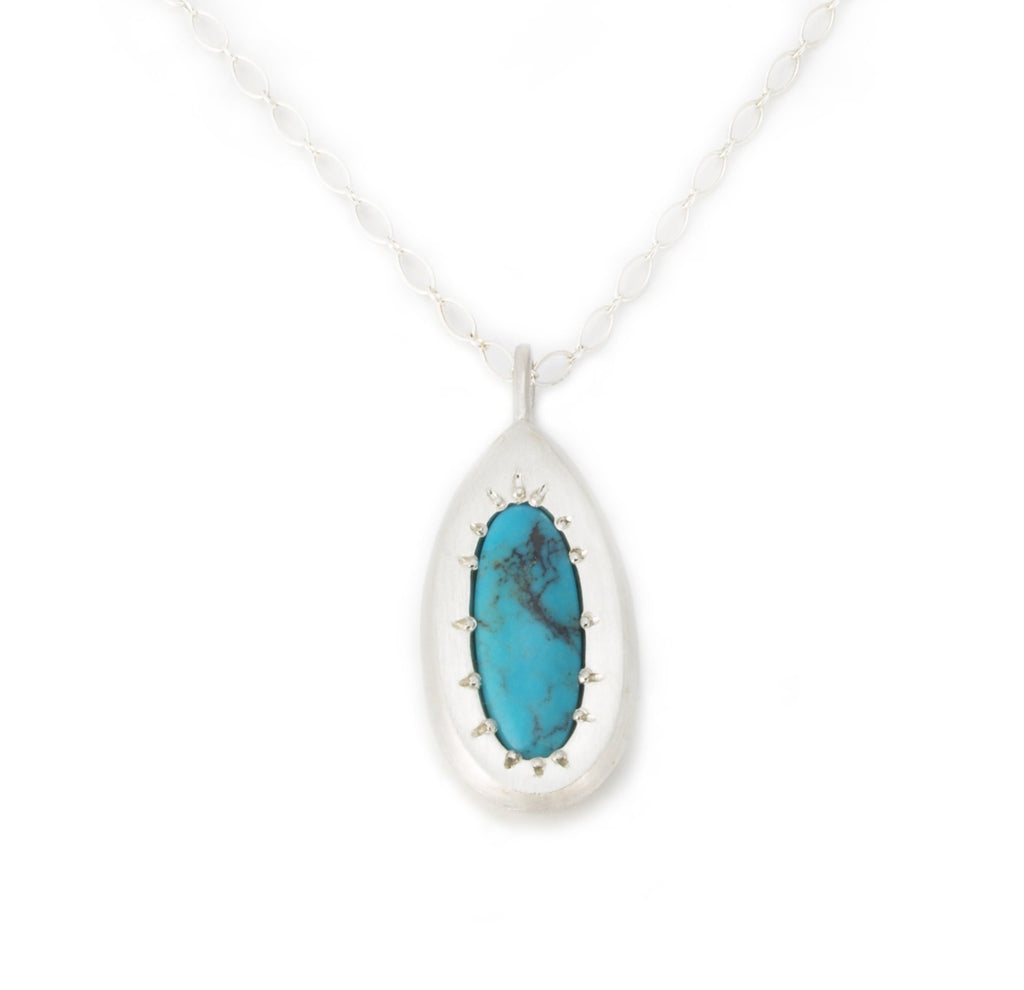 Large Drop Necklace with Turquoise