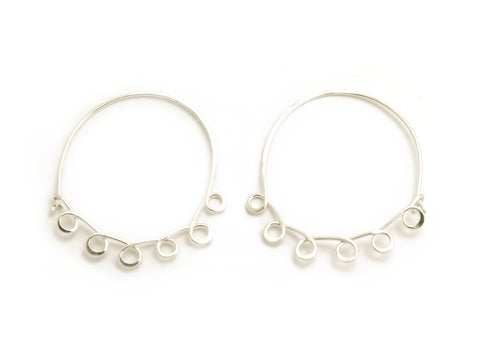Large Loopy Silver Hoops
