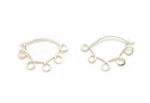 Little Loopy Silver Hoops