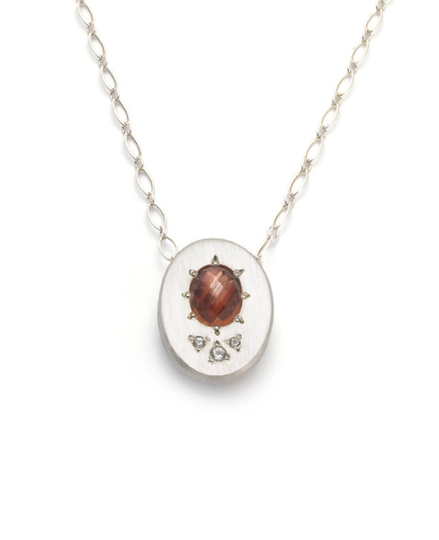 Oval Necklace with Oregon Sunstone
