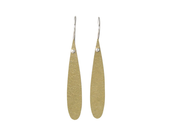 Medium Drop Dangle Earrings in Gold or Silver
