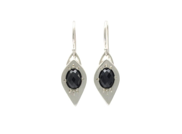 Tapered Marquise Earrings with Spinel