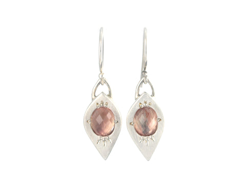 Tapered Marquise Earrings with Oregon Sunstone