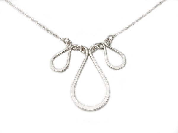 Triple Forged Drop Necklace