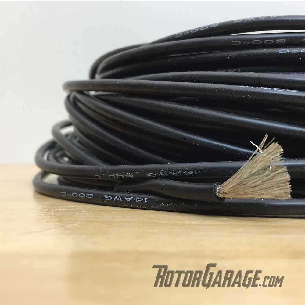 14awg Silicon Wire Black (per/ft Cut to Length)