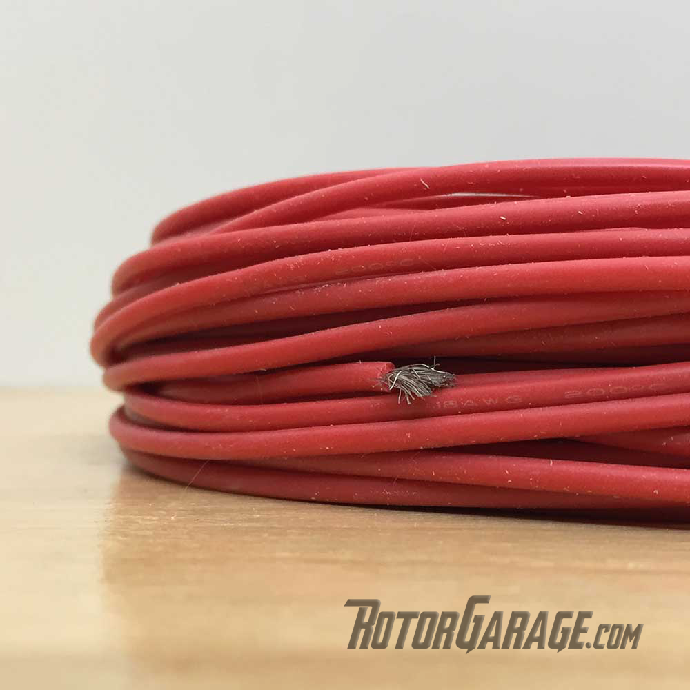 18awg Silicon Wire Red (per/ft Cut to Length)