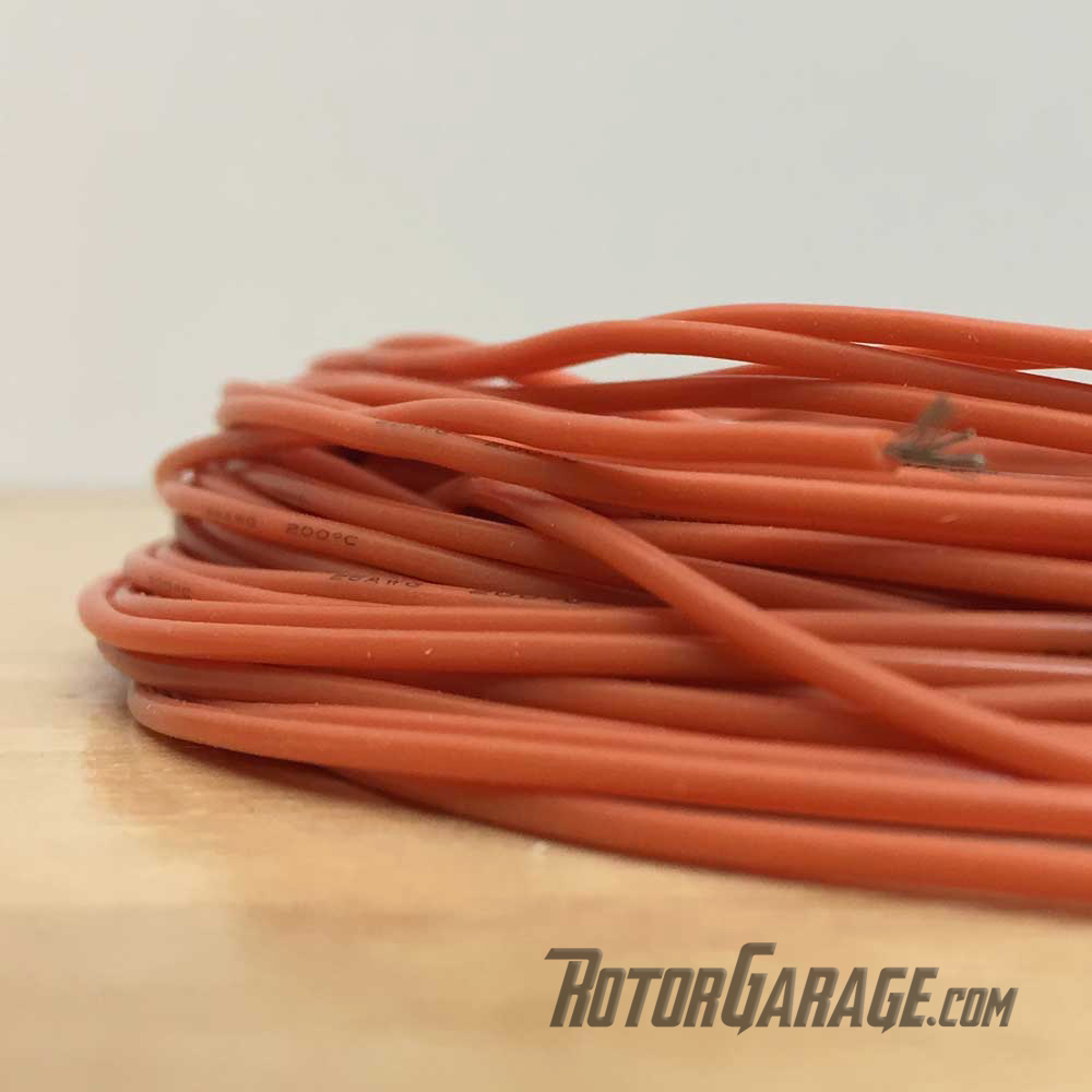 26awg Silicon Wire Orange (per/ft Cut to Length)