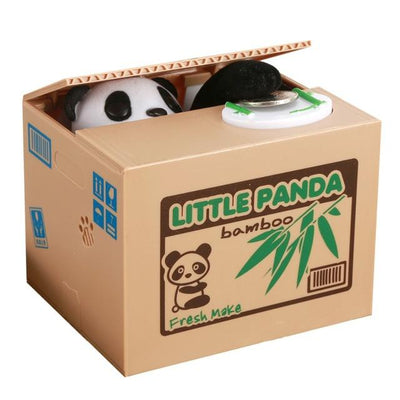 Coin Stealing Cat (or Panda) Piggy Bank