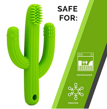Silicone Cactus Teether/Toothbrush Combo