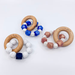 Single Wood Ring/Silicone Teether Summer Sale
