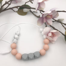 Grey/Blush Teething Necklace