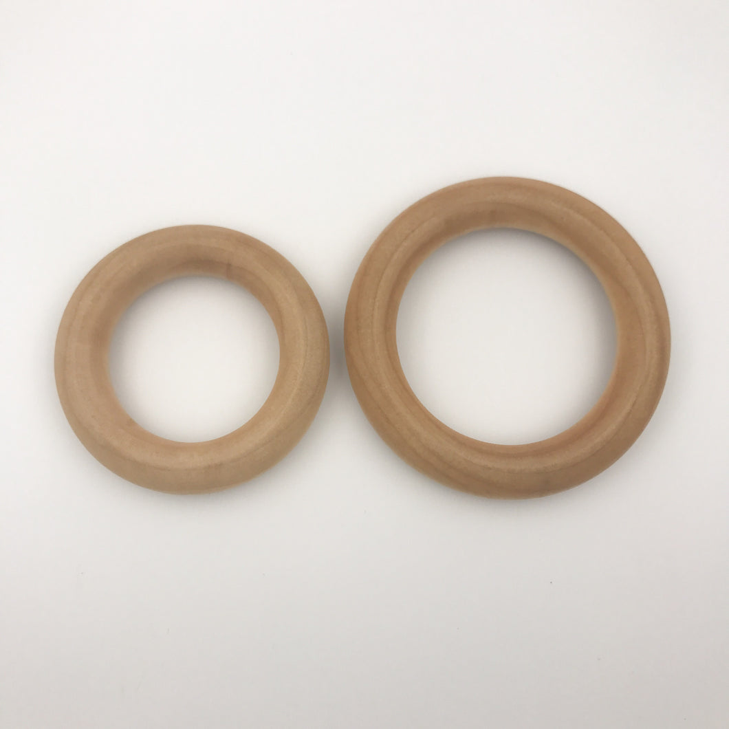 Organic Maple Wood Round Rings 2.5