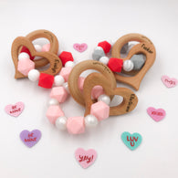 Engraved Heart Valentine's Day Teether
