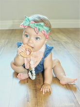 Pink Floral Pacifier/Teething Leash