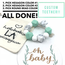 Custom Freezable Silicone Teether (Pick your own colors!)