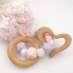 Limited Edition: Pink/Lavender Pearl Teether Rattle