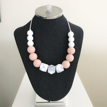 Blush/Marble Center Teething Necklace (Mommy and Me Set)