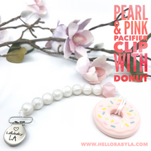 Donuts Teether and Pacifier Clip/Teething Leash Combo