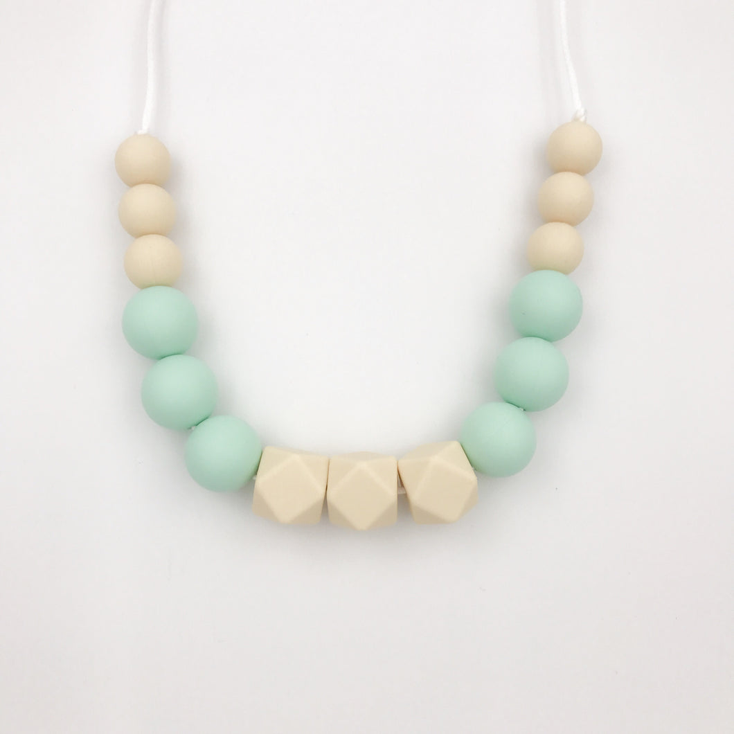 Beige/Mint Teething Necklace