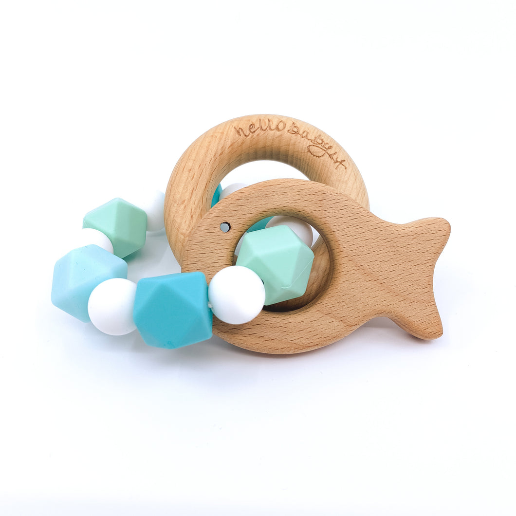 Littlest Fish in the Sea Teether Rattle