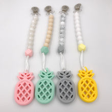 Pineapple Teether and Pacifier Clip/Teething Leash Combo