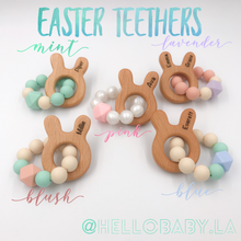 Engraved & Personalized Mini Bunny Easter Silicone Teethers