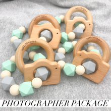10 pack Photographer/Newborn Camera Teether Rattle Client Gift Package