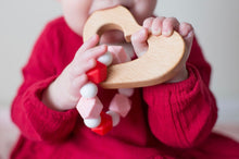 Engraved and Personalized Wood Shape Teether
