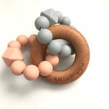 Triple Ring Silicone & Wood Teethers