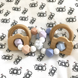 Camera Teether Rattle #mamarazzi