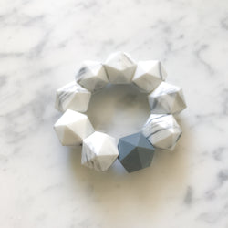Icosahedron Freezable Marble Silicone Teether