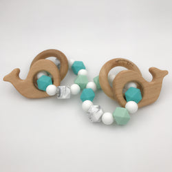 whale tail teether rattle hellobabyLA