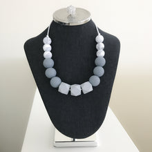 Grey Monochrome Teething Necklace